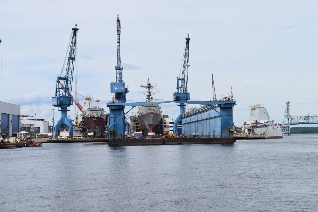 Bath Iron Works shipyard in 2019.