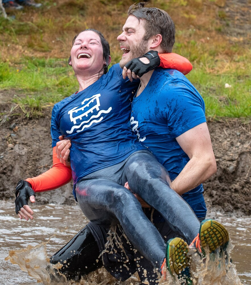 Couples compete in an exercise of ultimate trust - CentralMaine.com