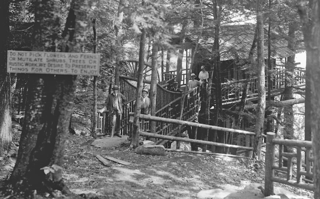 This undated photo from the Kennebec Journal archives shows the tree house in Gannett Estate on Western Avenue in Augusta. The steps to ramp is all that remains on the site which is now a scenic overlook in recently opened Howard Hill Historic Park.