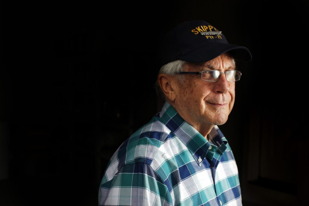 Lester Evans served in the Navy aboard the aircraft carrier Kitty Hawk and later as a PT Boat skipper in San Diego. He does a variety of volunteer work.
