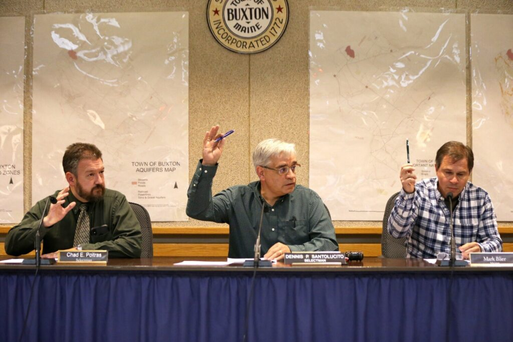 Buxton selectmen vote unanimously Wednesday night to accept the resignation of board Chairwoman Jean Harmon, who resigned after pleading no contest to a charge of disorderly conduct for hitting a town employee.