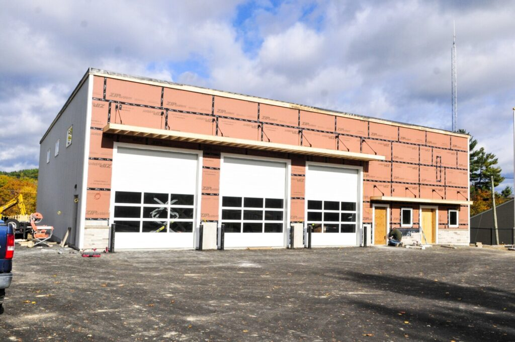 Construction continues at the new Farmingdale fire station on Friday on Maine Avenue in Farmingdale.