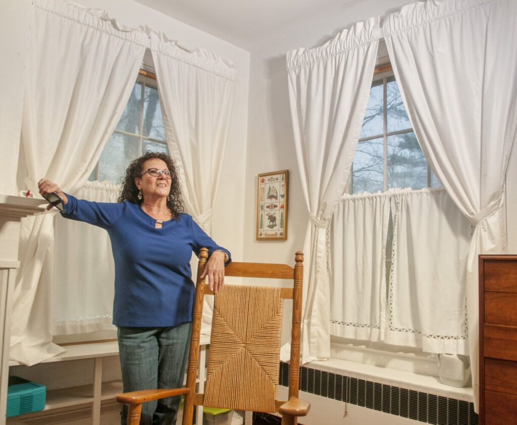 Annette Parlin, a medium/clairvoyant,  said that she saw the ghost of a man looking out of this second-floor bedroom window Oct. 23, during a tour of a Fayette home built in the late-1830s.