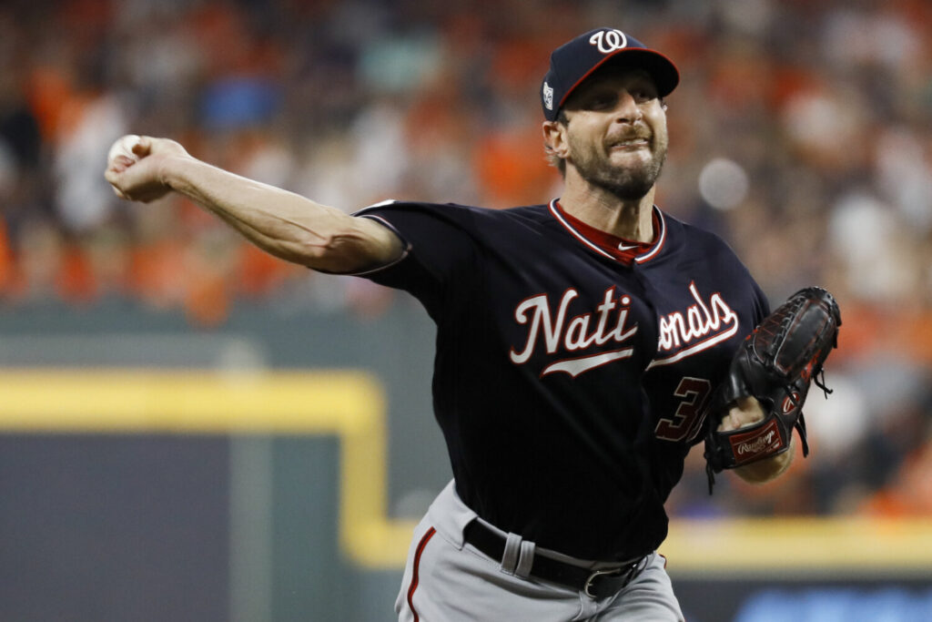 Washington Nationals starting pitcher Max Scherzer will be available to start a Game 7, if the Nationals can get there.