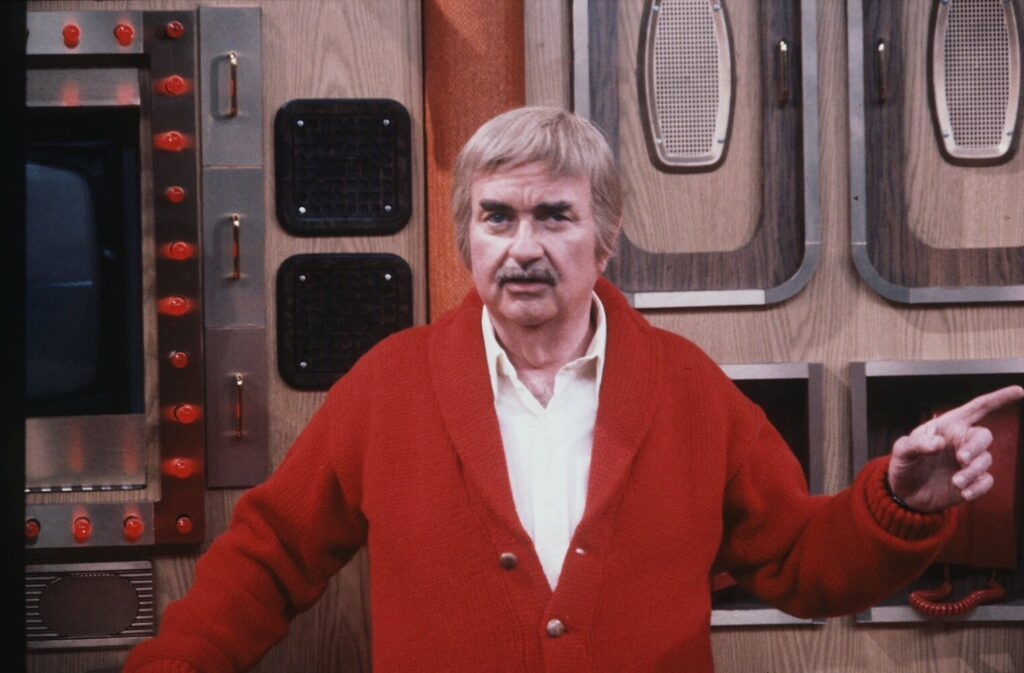 "Bob Keeshan appears in character as ""Captain Kangaroo"" on the television show's set at CBS in 1981. The character, which had nothing to do with kangaroos or courts, was invoked by a congressman Tuesday."