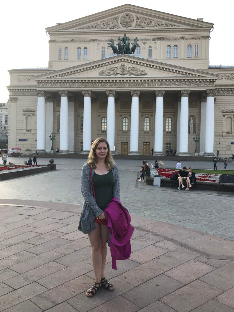 Ohio Wesleyan senior Amanda Hays spent a month working at the Hermitage State Museum in St. Petersburg, Russia. During her OWU Connection experience, she visited the Bolshoi Theater in Moscow.