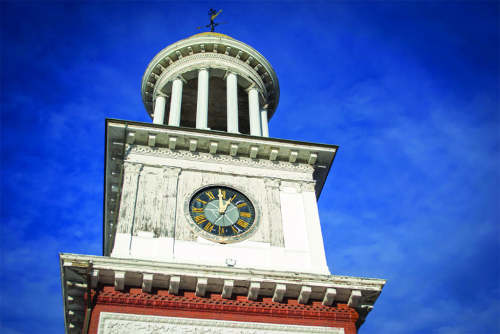 The public is invited to participate Friday morning in the unveiling of the partially restored Biddeford clock tower at City Hall.