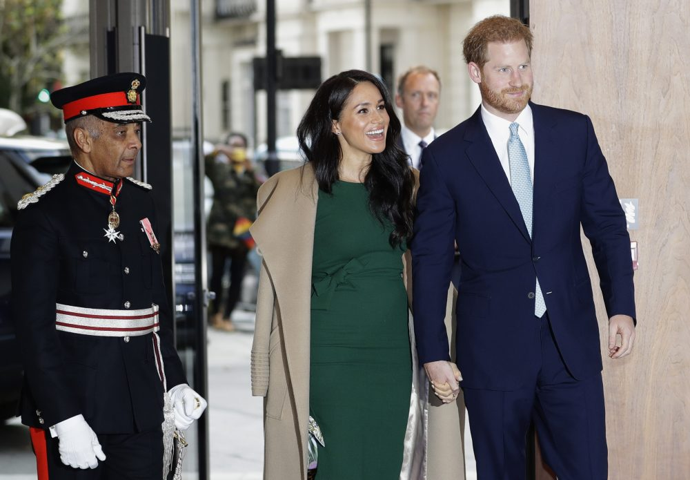 Britain's Prince Harry and Meghan, the Duke and Duchess of Sussex arrive to attend the WellChild Awards Ceremony in London, Tuesday, Oct. 15, 2019.