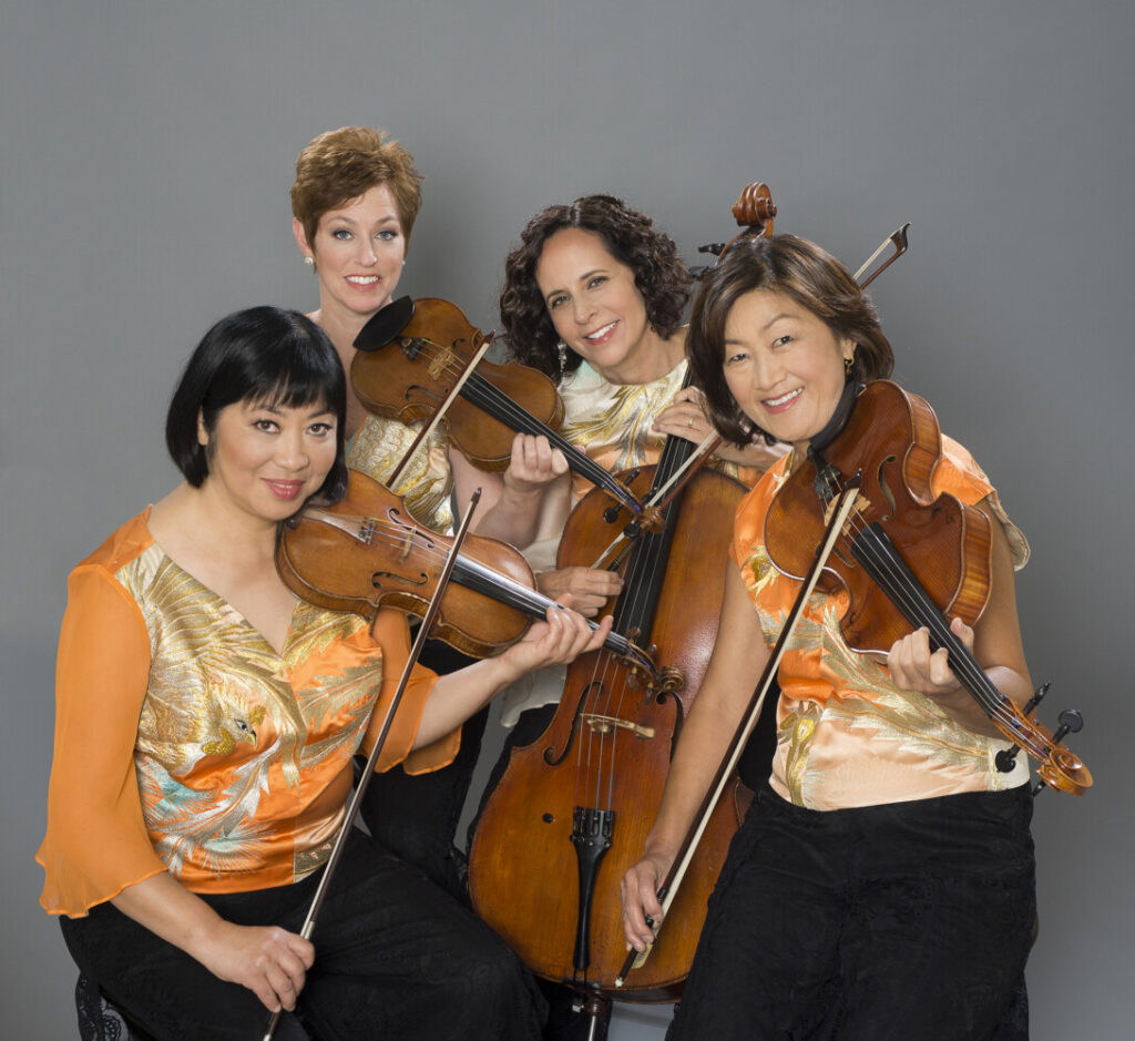 Members of the Cassatt String Quartet, from left, Muneko Otani and Jennifer Leshnower, violins; Elizabeth Anderson, cello; and Ah Ling Neu, viola.