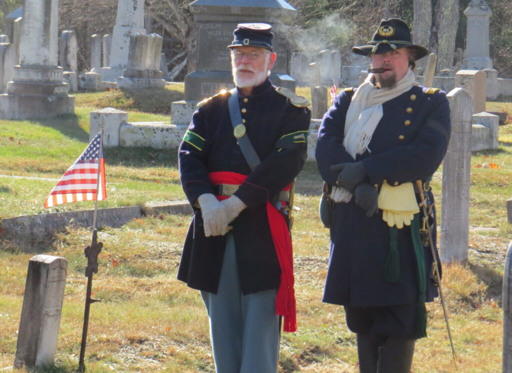 Two members of the Third Maine Infantry, both Civil War re-enactors, were part of a previous Veterans Day event in Readfield. The 3rd Maine will participate again this year on Monday, Nov. 11.