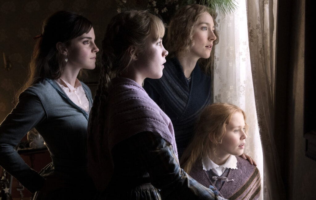 Emma Watson, Saoirse Ronan, Eliza Scanlen and Florence Pugh in Columbia Pictures' 'Little Women.'