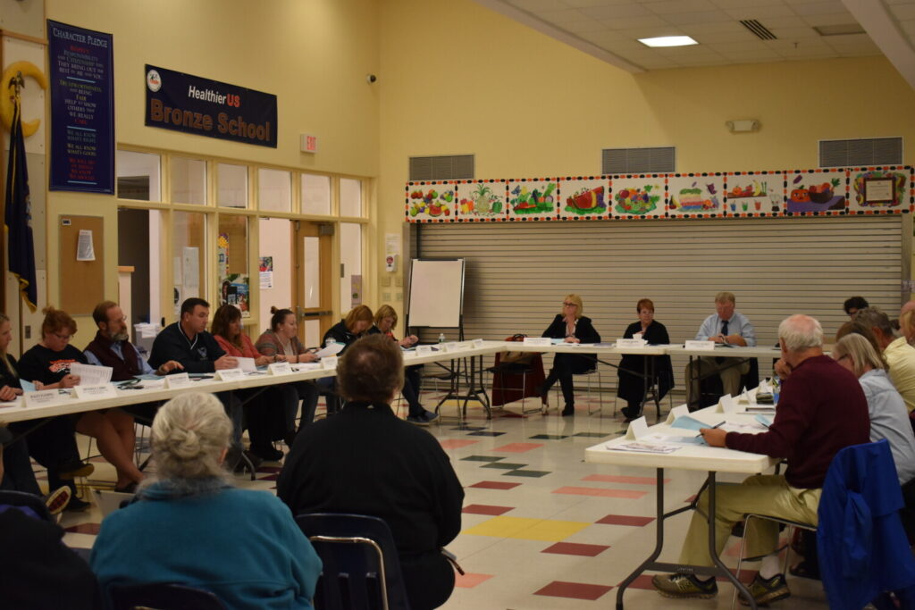 The School Administrative District 54 board meets Thursday. They discussed the process for choosing  a new mascot.