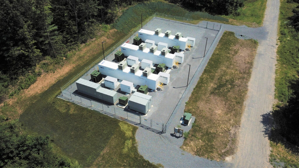 KCE NY1 is a new energy storage project  located in a substation near Albany, N.Y. The 20-megawatt project earns money from utilities by supplying power to help balance the transmission grid. Its co-founder said he would be interested in a similar project in Maine if the state adopts policies for investment.