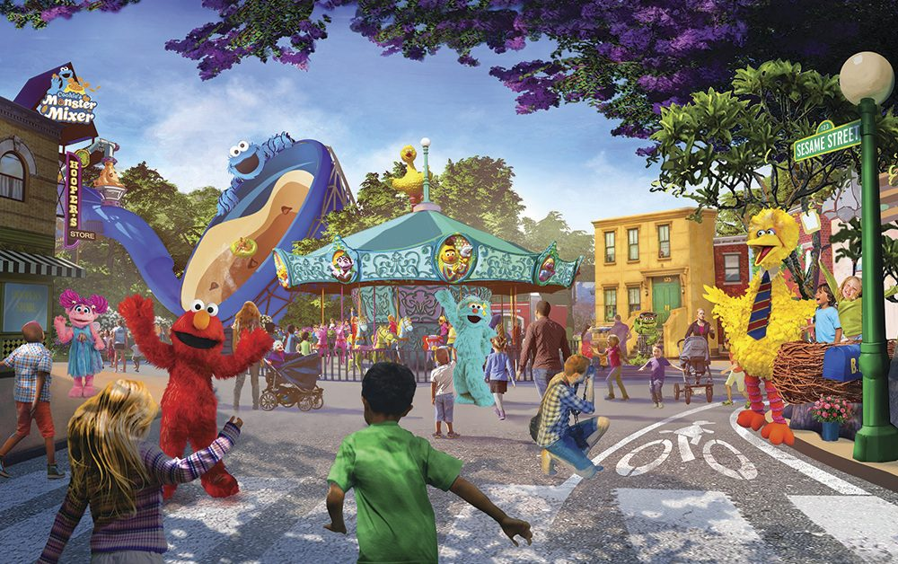 This undated artist rendering provided by PGAV Destinations shows a depiction of the new SeaWorld and Sesame Workshop theme park, which is scheduled to open in San Diego in 2021.