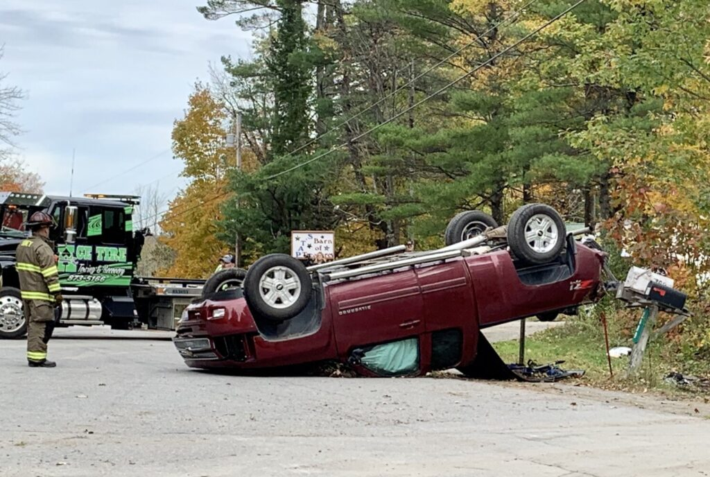Authorities respond Friday morning to the scene of a fatal car crash on Middle Road in Sidney.