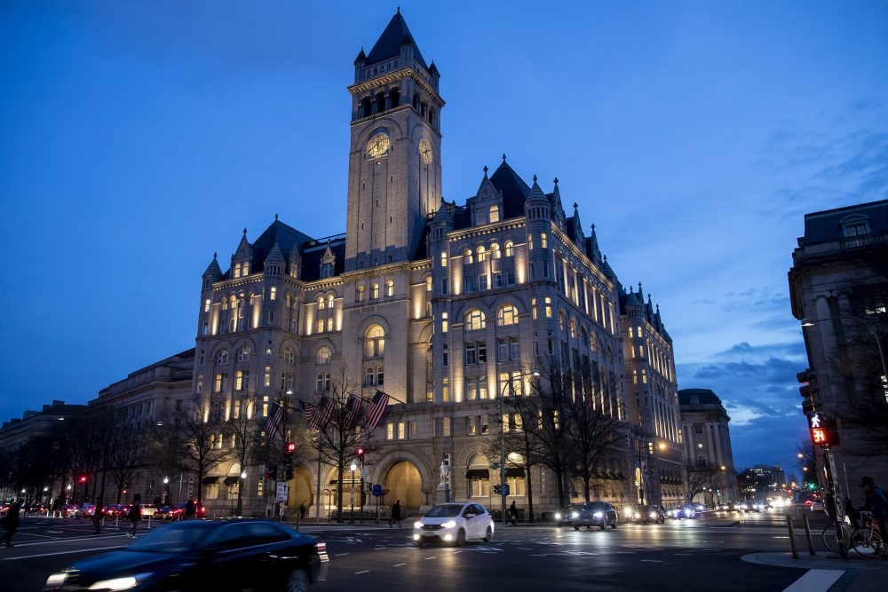 The Trump Organization is trying to sell its lease of the Trump International Hotel in Washington, sources say.