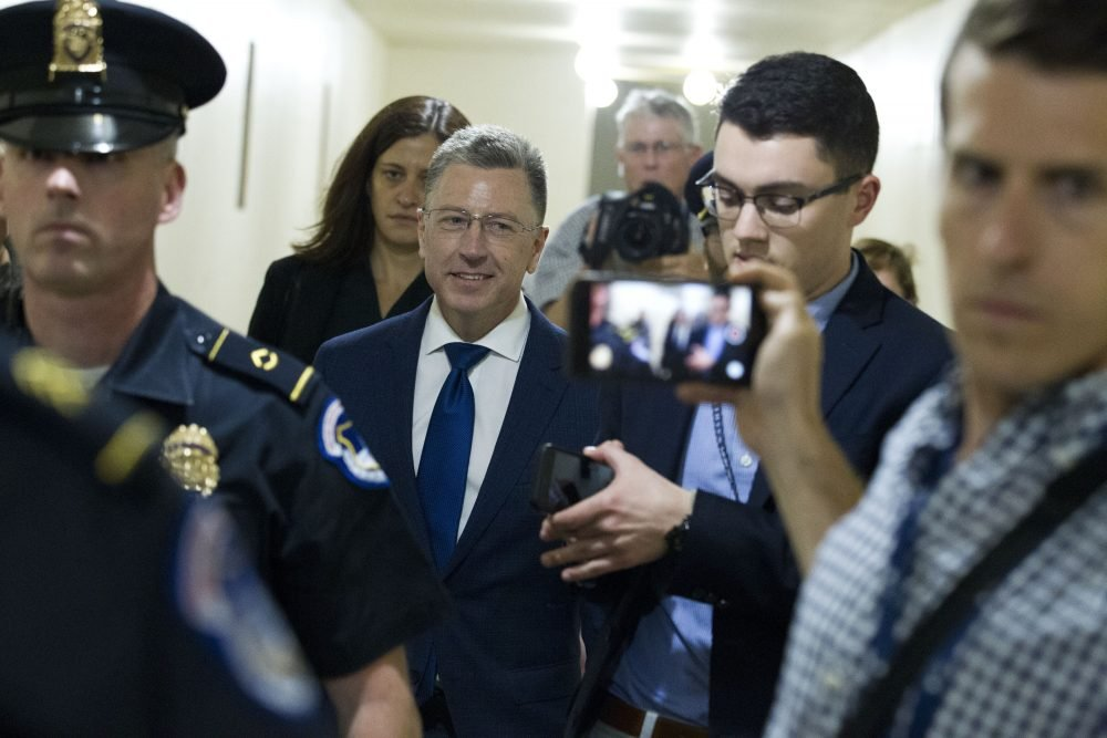 Kurt Volker, former special envoy to Ukraine, after a closed-door interview with House investigators on Thursday.