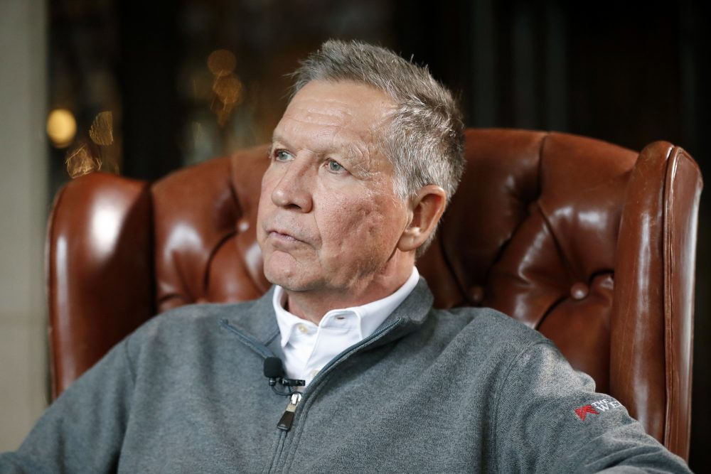 Former Ohio Gov. John Kasich, who ran against President Trump in the 2016 Republican primary, says he supports impeachment. Kasich said Friday on CNN that the final straw was when acting White House chief of staff Mick Mulvaney acknowledged that Trump's decision to hold up military aid to Ukraine was linked to his demand that Kiev investigate the Democratic National Committee and the 2016 U.S. presidential campaign.