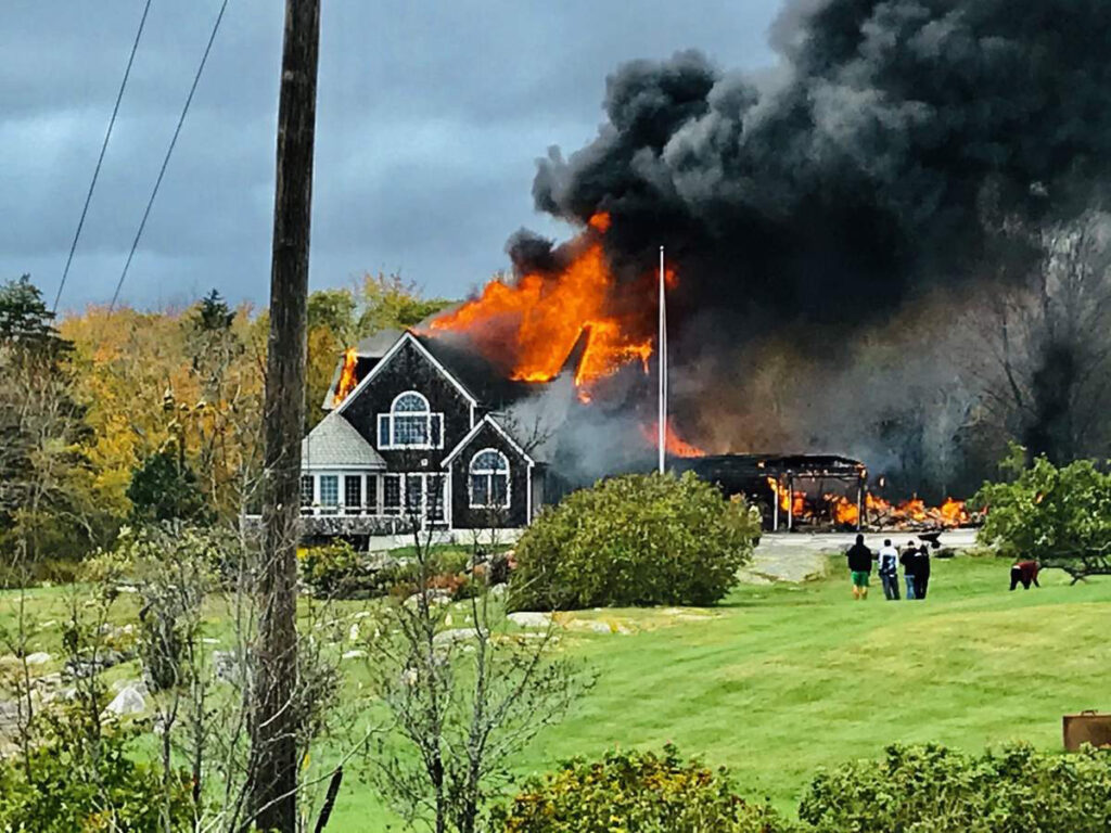 A generator is believed to have caused the fire that destroyed this waterfront home in St. George.