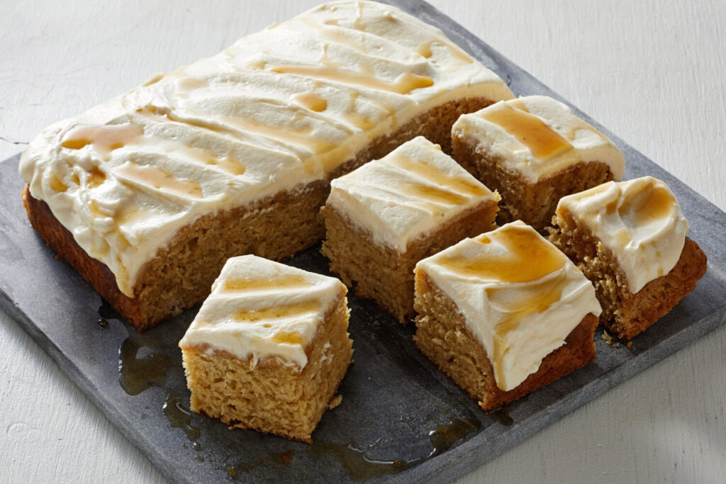 Sour Cream Maple Cake With Maple Buttercream Frosting.