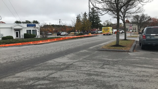 Police cordoned off the parking lot of the mall at Cook's Corner Wednesday afternoon after a concerns about a possible gas leak.