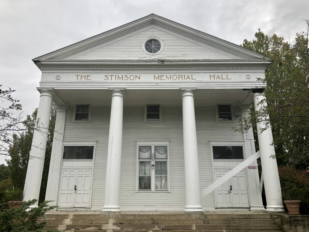 Stimson Memorial Hall has been vacant for a decade.