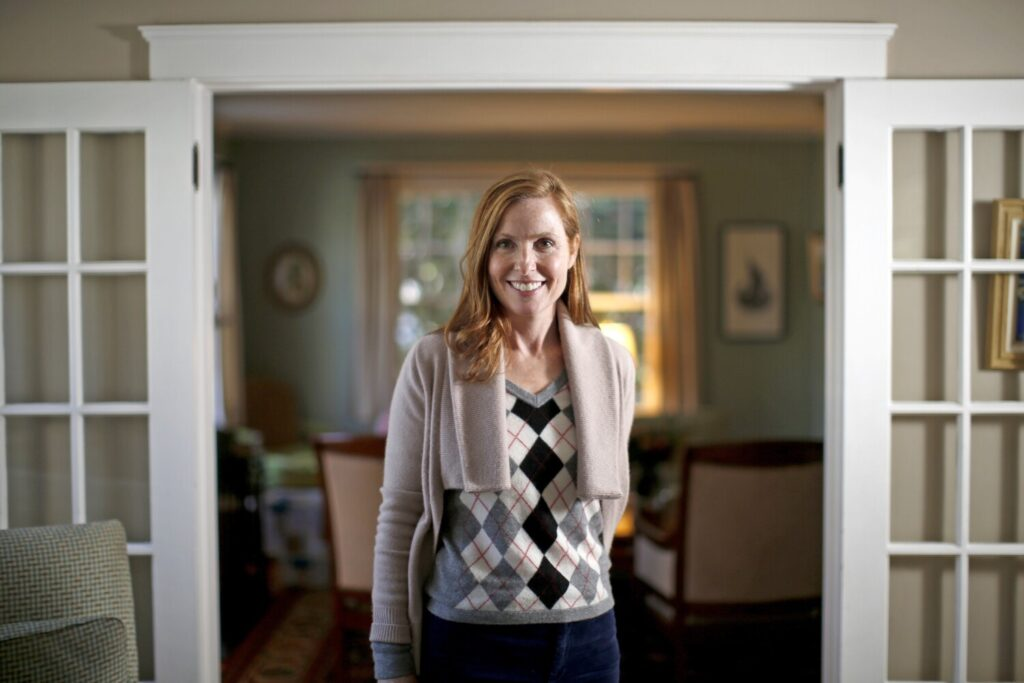 "Mayor-elect Kate Snyder poses for a portrait in her Portland home on Wednesday, the day after she surprised herself with a ""surreal"" election victory."