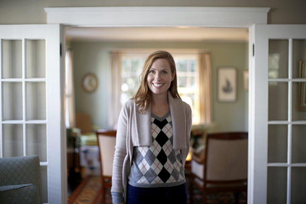Portland Mayor-elect Kate Snyder poses for a portrait in her home.
