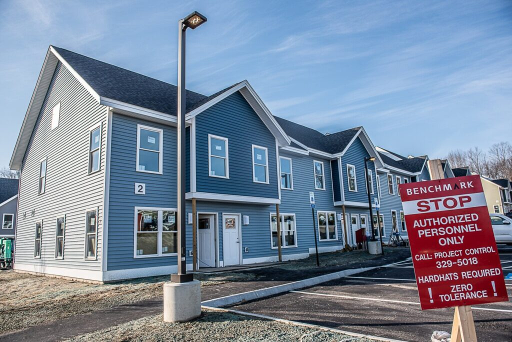 The first of three buildings at 477 Minot Ave. in Auburn will open later this month. The 36 units next to Fairview Elementary School are a mix of one, two and three bedrooms.