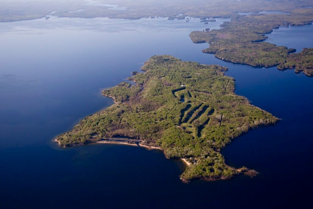 Frye Island sits in Sebago Lake. The seasonal community became an independent town in 1997.