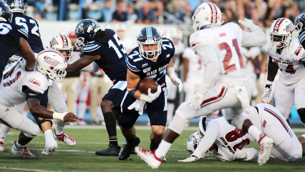 Former Cheverus star Joe Fitzpatrick leads UMaine with 510 rushing yards and seven touchdowns.
