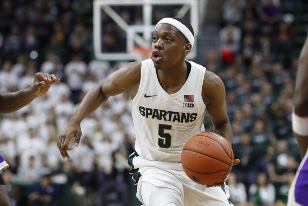 Guard Cassius Winston and No. 1 Michigan State will be tested right away when they open the season against No. 2 Duke on Tuesday in New York.