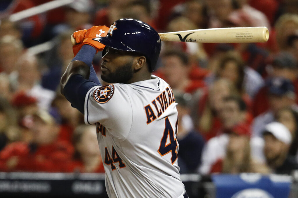 Houston's Yordan Alvarez was the unanimous selection for the American League Rookie of the Year after hitting 27 home runs in 87 games.
