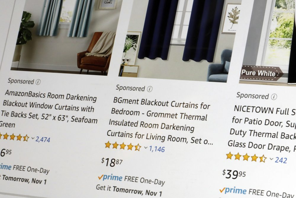 "Companies and brands can bid to get their products in Amazon's search listings, sometimes pushing down what shoppers are searching for and making them harder to find. Ads show up at the top, middle and the bottom of search listings, and look exactly like regular product listings except for the word ""Sponsored"" in gray."