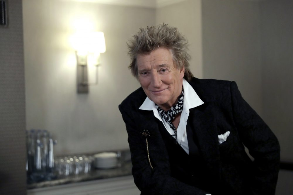 British singer Rod Stewart poses for the media after an interview with The Associated Press at a hotel in London on Nov. 14. Stewart, known for decades as a consummate crooner, rocker, fashion plate and tongue-in-cheek sex symbol, is adding a new element to his image: serious model railroad builder.