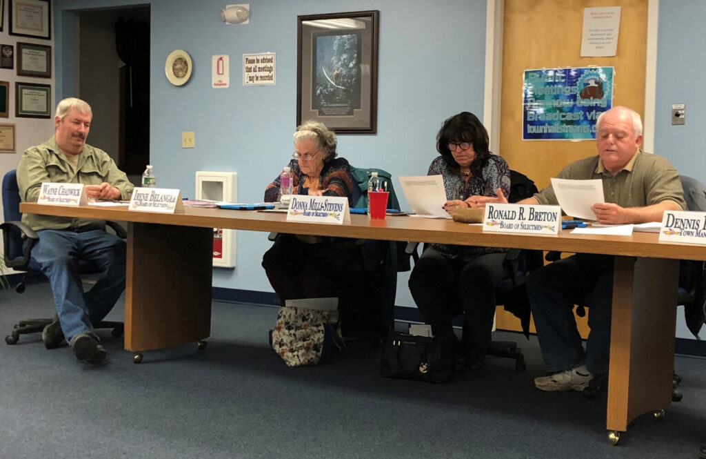 Janet Preston will join the China Select Board that includes Wayne Chadwick, from left, Irene Belanger, Donna Mills-Stevens and Ronald Breton. She won Tuesday's election by one vote to take over the seat vacated by Jeff LaVerdiere.