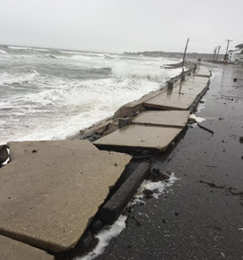 Long Sands Beach in York shows damage from a storm in March 2018. York is one of six York County towns that are banding together to hire a climate change expert.