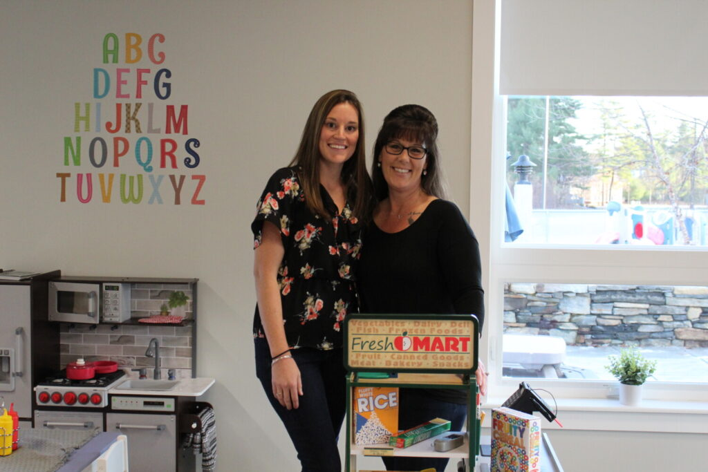 Kelsey Alexander, owner (left), and Terra Travis, assistant director, are the leadership behind Bright Beginnings at the Landing, a new childcare center that opened at the former base this month.