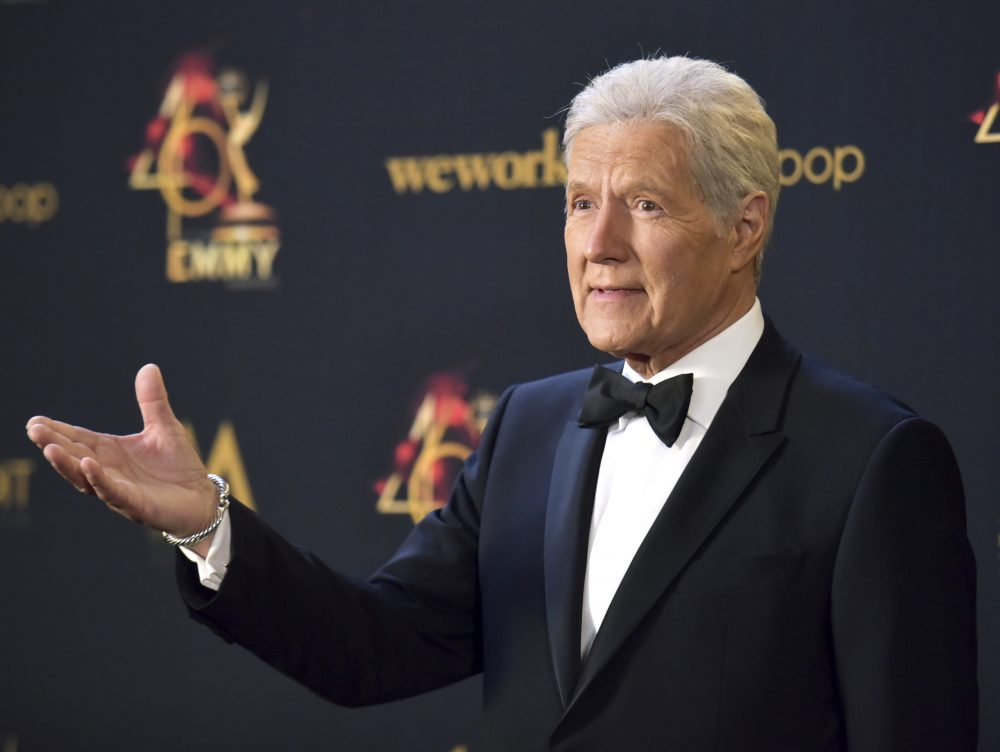 In this May 5, 2019, file photo Alex Trebek poses in the press room at the 46th annual Daytime Emmy Awards at the Pasadena Civic Center in Pasadena, Calif.