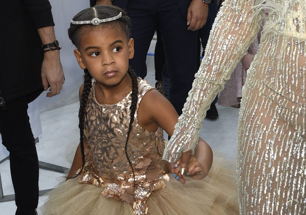 In this Aug. 28, 2016 file photo, Blue Ivy, daughter of Beyonce, arrives at the MTV Video Music Awards at Madison Square Garden in New York.