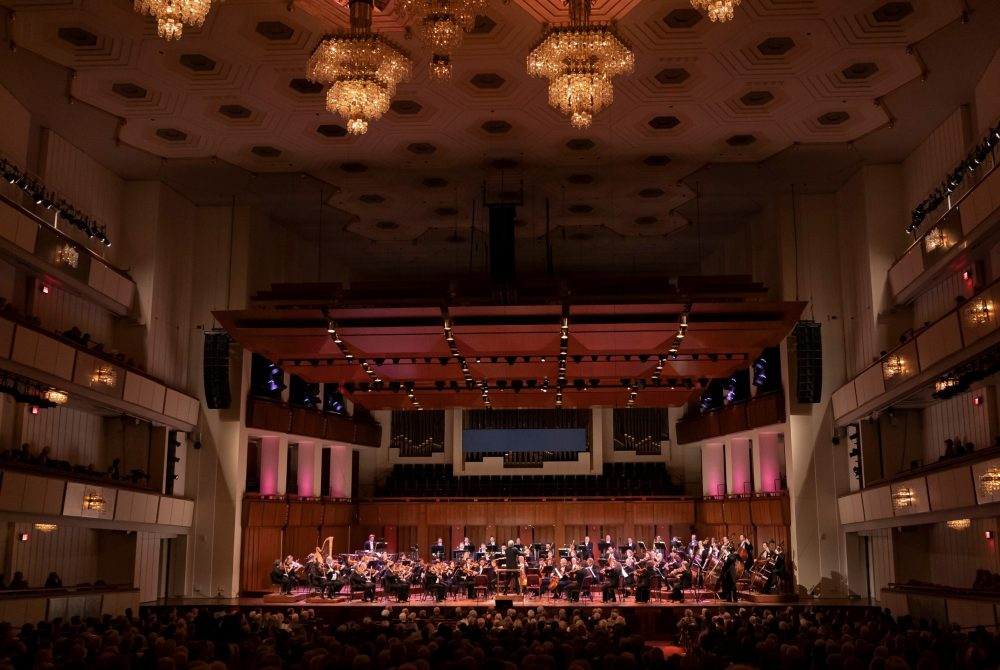 "The National Symphony Orchestra  performing  Wagner's ""Tristan und Isolde"" in Washington."
