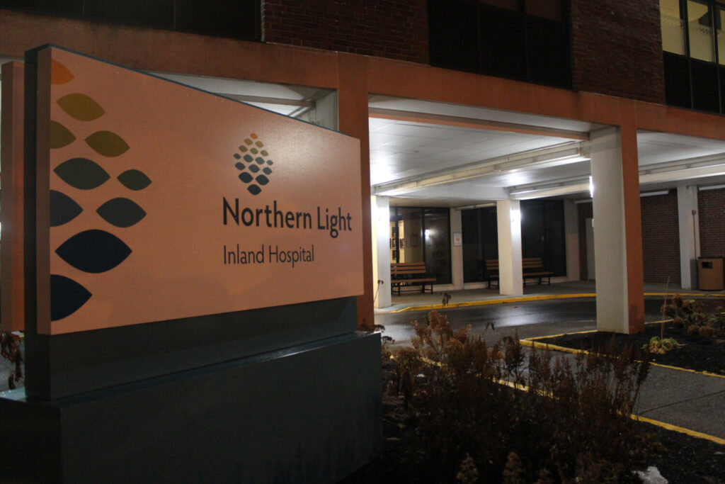 The entrance to Northern Light Inland Hospital on Kennedy Memorial Drive in Waterville.