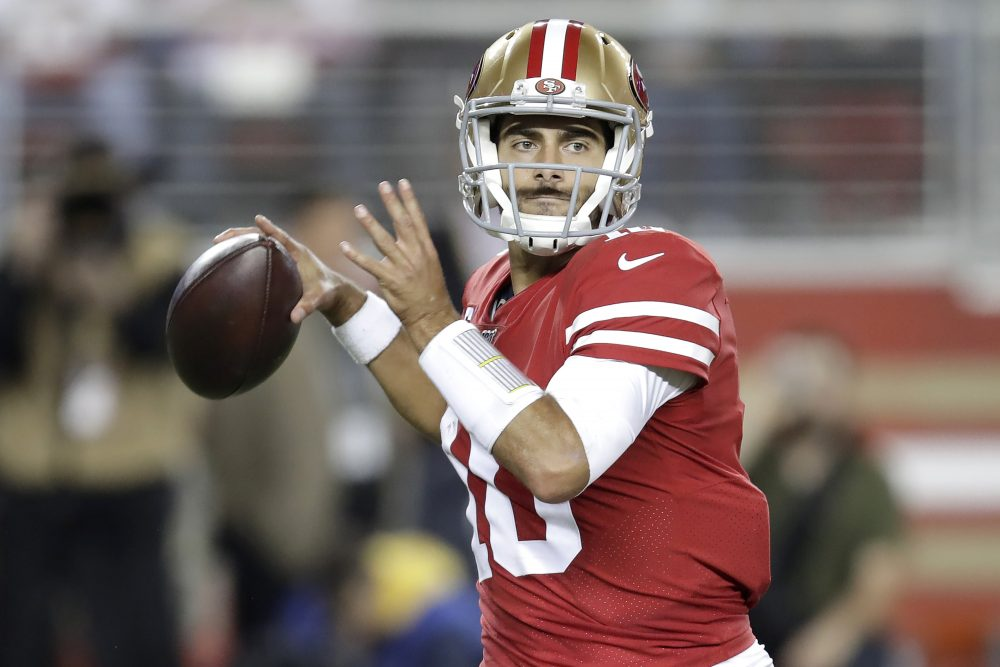 NFL notebook: With Garoppolo out, Mullens gets start for 49ers