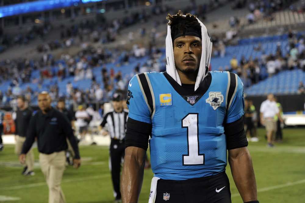 Quarterback Cam Newton was released Tuesday after nine seasons with the Carolina Panthers