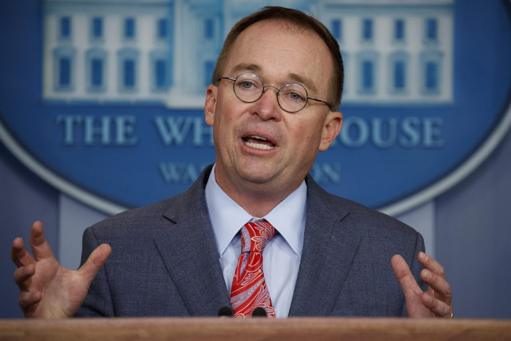Acting White House chief of staff Mick Mulvaney won't pursue joining a lawsuit that asks a judge to decide whether he must respond to a House  subpoena to testify in the Trump impeachment probe.