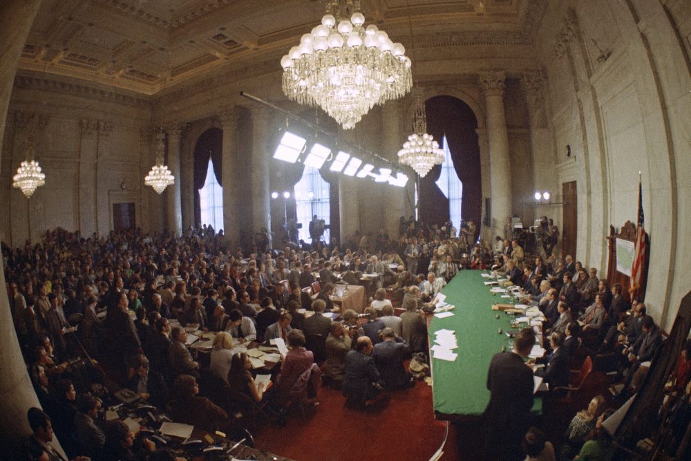 """In 1973, millions of Americans tuned in to what Variety called """"the hottest daytime soap opera"""" – the Senate Watergate hearings that eventually led to President Richard Nixon's resignation. For multiple reasons, notably a transformed media landscape, there's unlikely to be a similar communal experience when the House impeachment inquiry targeting Donald Trump goes on national television starting Nov. 13."""