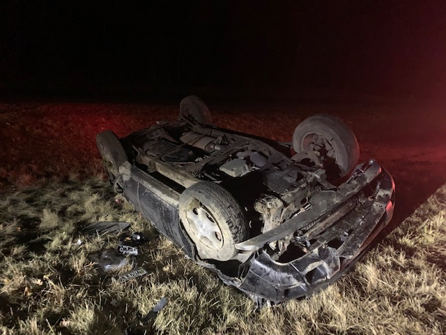 The driver of a car in Yarmouth was seriously injured in a rollover crash Friday.