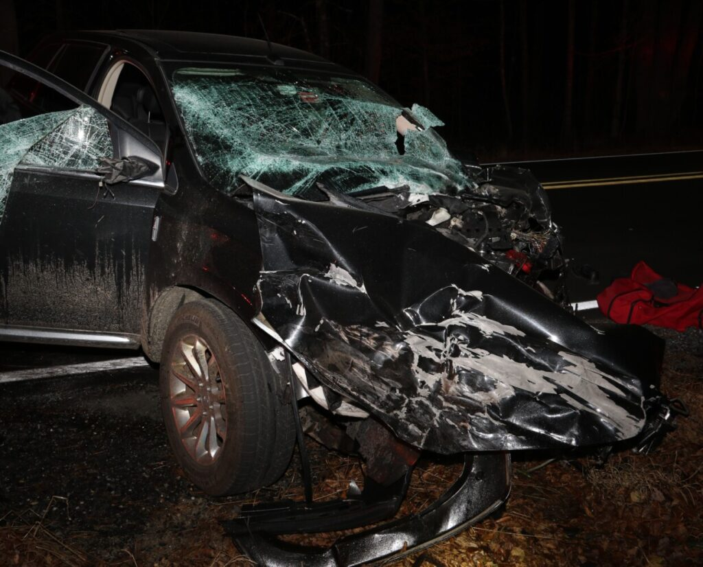 A Litchfield couple were killed Saturday night in a head-on collision on Hallowell Road.