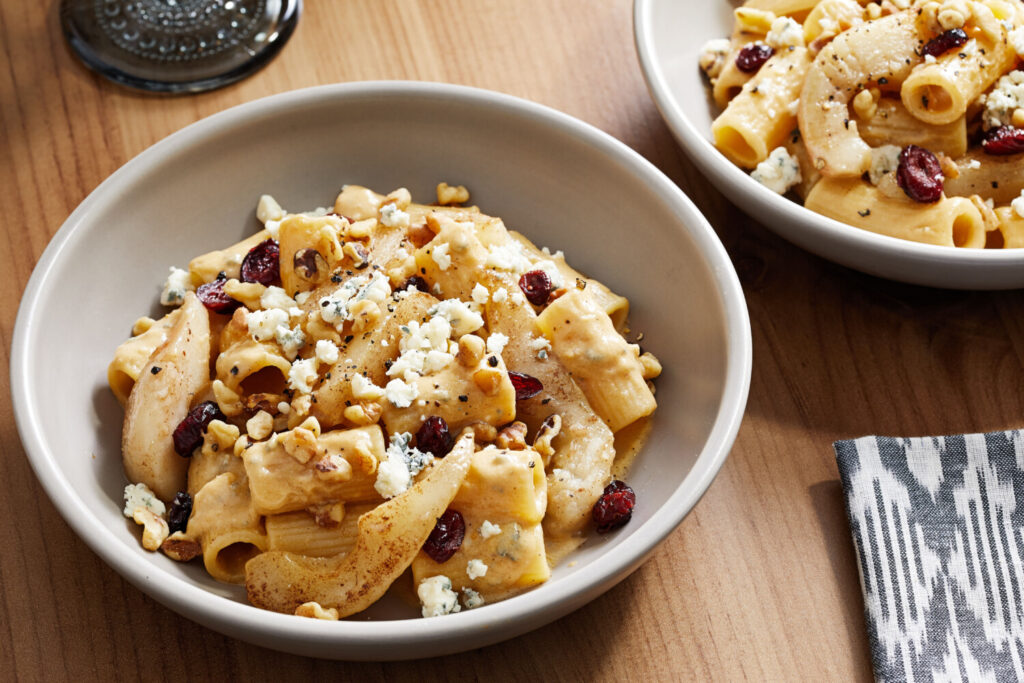 Pasta With Caramelized Pears and Gorgonzola.