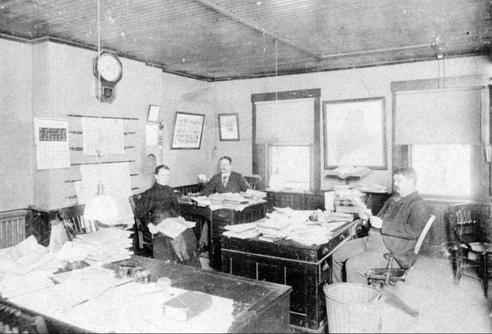 In 1870 the Kennebec Journal was located on Water Street in Augusta. A small newsroom staff occupied one room on the upper floor of the building. The newspaper was called the Daily Kennebec Journal at that time.